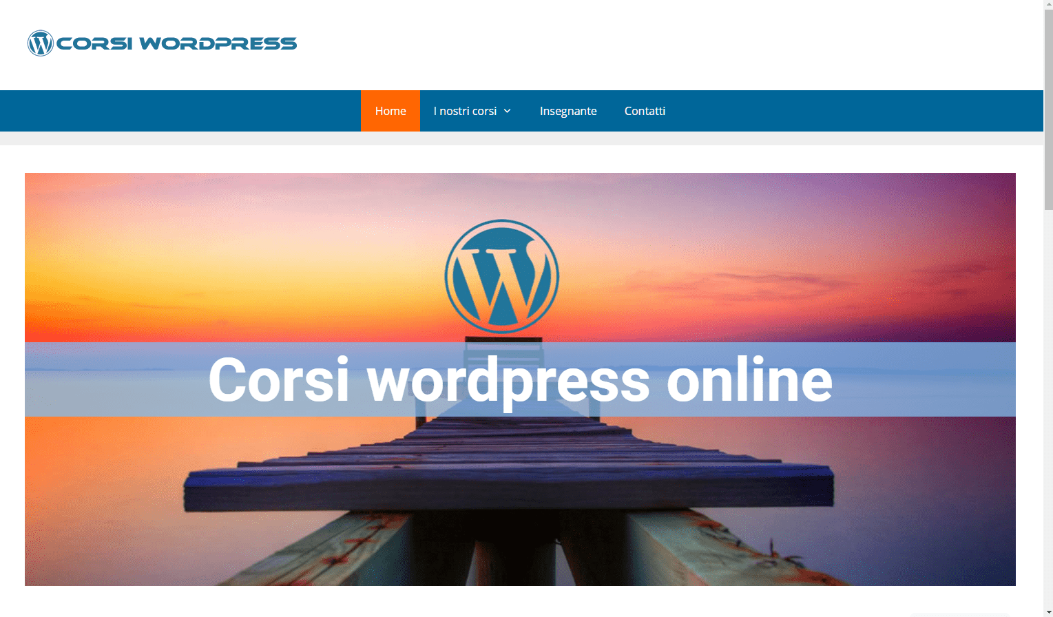 corsi wordpress online